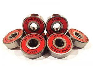 16x Rouge Abec 9627(7x 22x 7mm) RS Pro Riders Skate Roulements Roller Derby de hockey de la marque r&s image 0 produit