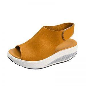 2018 Nouvelles sandales de femmes,GreatestPAK Bohême Chaussures à talons hauts Summer Shake Fond épais de la marque GreatestPAK_Chaussures image 0 produit