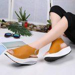 2018 Nouvelles sandales de femmes,GreatestPAK Bohême Chaussures à talons hauts Summer Shake Fond épais de la marque GreatestPAK_Chaussures image 2 produit
