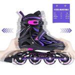 2pm Sports Vinal Size Patins en ligne réglables en violet, roues LED spéciales, Rollers en ligne amusants pour filles, enfants et femmes, Start Skating Today! de la marque 2pm Sports image 1 produit