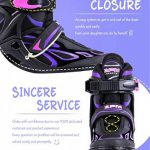 2pm Sports Vinal Size Patins en ligne réglables en violet, roues LED spéciales, Rollers en ligne amusants pour filles, enfants et femmes, Start Skating Today! de la marque 2pm Sports image 3 produit