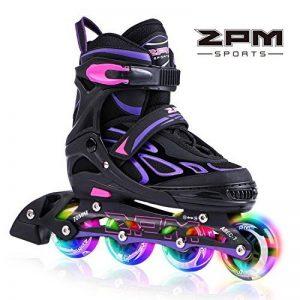 2pm Sports Vinal Size Patins en ligne réglables en violet, roues LED spéciales, Rollers en ligne amusants pour filles, enfants et femmes, Start Skating Today! de la marque 2pm Sports image 0 produit