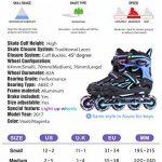 2pm Sports Vinal Size Patins en ligne réglables en violet, roues LED spéciales, Rollers en ligne amusants pour filles, enfants et femmes, Start Skating Today! de la marque 2pm Sports image 4 produit