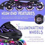 2pm Sports Vinal Size Patins en ligne réglables en violet, roues LED spéciales, Rollers en ligne amusants pour filles, enfants et femmes, Start Skating Today! de la marque 2pm Sports image 2 produit