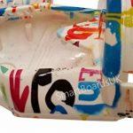 """8"""" Hoverboard CONCEPTION Plastic Shell - Housse Swegway 8 pouces Frame 2 Wheel Smart Balance Scooter Plastics (GRAFFITI BLANCHE) de la marque SmartBoardsUK image 1 produit"""