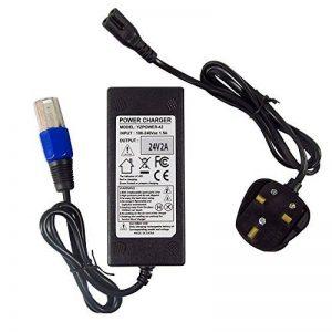 Abakoo Chargeur de batterie pour véhicules électriques (scooters, vélos, hoverboards, fauteuils électriques) modèles Schwinn S500eZip 4.0400500750900avec transformateur à connecteur XLR, 24V 2A de la marque Générique image 0 produit