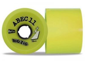 ABEC 11zigzags Reflex citron 83A longboard 75mm Jeu de roulettes Longboard (4roues)–Roues de la marque ABEC 11 image 0 produit