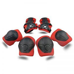 ABS Protections de Skateboard Kneepads Genouillère Coudières Protège Poignet Sport Equipement Patinage 6 PCS pour enfants - rouge de la marque TOPFIRE image 0 produit