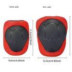ABS Protections de Skateboard Kneepads Genouillère Coudières Protège Poignet Sport Equipement Patinage 6 PCS pour enfants - rouge de la marque TOPFIRE image 2 produit