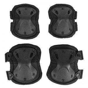 Adulte Coude genou tactique Coussinets Shin armure Guard pour moto Roller Skating Ski Sports de la marque TK image 0 produit