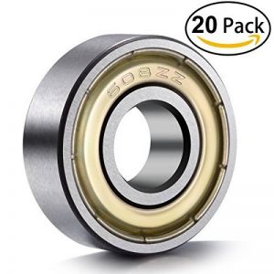 Ancirs 20pcs 608ZZ Roulement à billes, 608ZZ Métal double blindage miniature Deep Groove Skateboard Roulements à billes (8mm X 22mm x 7mm) de la marque ANCIRS image 0 produit