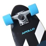 "Apollo fancy board, midi cruiser comme boad complet, 70cm (30x8"") , mini long kicktail maniable en bois vintage cruiser board avec roulements à billes ABEC 9 haute vitesse… de la marque Apollo image 2 produit"