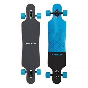 Apollo Longboard édition spéciale board complet y inclus outil en forme de T, avec roulements à billes ABEC High speed, Drop-Through Freeride Skaten Cruiser Boards de la marque Apollo image 0 produit
