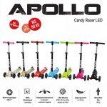 Apollo Scooter - Candy Racer LED - Big Wheel scooter de luxe pour les enfants à partir de 3 ans Kickboard-Scooter pliable, trottinette jusqu'á 80kg avec guidon réglable en hauteur et roues LED de la marque Apollo image 6 produit