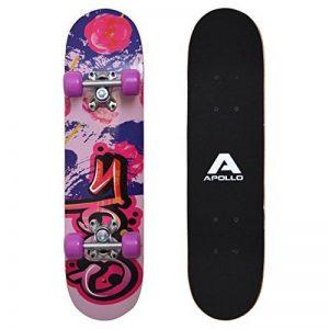 Apollo Skateboard, petit Skateboard Complet avec roulements ABEC 3, aluminium Axes, motifs différents–pour enfants et adolescents de la marque Apollo image 0 produit