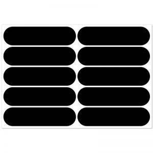 B REFLECTIVE, Kit 10 autocollants rétro réfléchissants, Visibilité de nuit, Adhésif universel, Stickers pour vélo/poussette/casque/moto/jouets, Bandes 7 x 1,8 cm, Noir de la marque B REFLECTIVE image 0 produit
