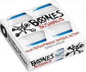Bones 'Hardcore' Bushings. Soft. Blue/White. x2. de la marque Bones image 0 produit