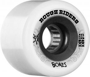 Bones Jeu de 4 Roues de Skateboard Atf Roughriders 56mm Blanc de la marque Bones image 0 produit