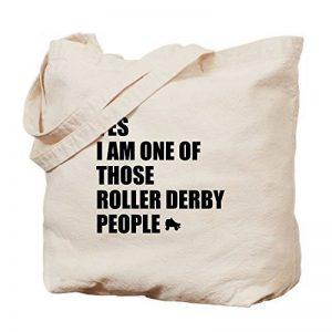 CafePress–Roller Derby personnes–Naturel Sac en toile, tissu, Sac de courses de la marque CafePress image 0 produit