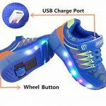 Chaussures à Roulettes, WINNEG Baskets Enfants USB Rechargeable Lumineuse avec Roue pour Garçons et Filles de la marque WINNEG image 2 produit