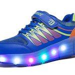 Chaussures à Roulettes, WINNEG Baskets Enfants USB Rechargeable Lumineuse avec Roue pour Garçons et Filles de la marque WINNEG image 4 produit