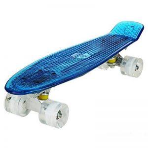 cooshional Cruiser Crystal Panneau Transparent Complet -22'' Skateboard Planches à Roulettes Lumière LED Roues Maniable de la marque cooshional image 0 produit
