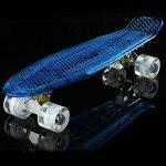 cooshional Cruiser Crystal Panneau Transparent Complet -22'' Skateboard Planches à Roulettes Lumière LED Roues Maniable de la marque cooshional image 4 produit