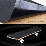 COSOOS Skateboard Grip Tape Sheet 44x10.6 pouces, sans bulles, imperméable à l'eau, noir Scooter Grip Tape, Longboard Griptape, papier de verre pour Rollerboard, escaliers, pédale, pistolet, fauteuil roulant, étape (110x27cm) de la marque COSOOS image 3 produit