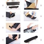 COSOOS Skateboard Grip Tape Sheet 44x10.6 pouces, sans bulles, imperméable à l'eau, noir Scooter Grip Tape, Longboard Griptape, papier de verre pour Rollerboard, escaliers, pédale, pistolet, fauteuil roulant, étape (110x27cm) de la marque COSOOS image 4 produit