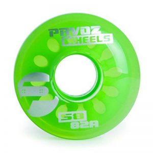 Cruiser Wheels For Skateboard 58mm 82A Pavoz Clear de la marque Pavoz image 0 produit