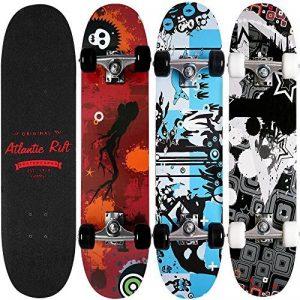 Deuba Planche à roulettes Skateboard - Atlantic Rift - Roues ABEC 7 - Modèle au choix de la marque Deuba image 0 produit
