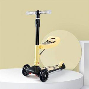DWW-Trottinette Le scooter de coup d'enfants des enfants démontables peuvent s'asseoir la taille réglable en alliage d'aluminium Le luxe trois tours la roue d'unité centrale multifonctionnelle enfants entament le scooter Trottinette pour enfants de la mar image 0 produit