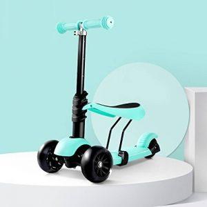 DWW-Trottinette Le scooter démontable d'enfant peut reposer le luxe trois tours d'alliage d'aluminium réglables de taille de roue d'instantané de clignotant, vélo d'alliage d'aluminium pour les enfants de 2-6 ans Trottinette pour enfants de la marque Trot image 0 produit