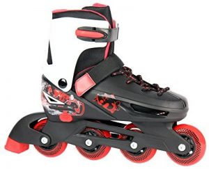 Enfants réglables Roller Roller Skates pour 33–36ou 37–40en noir/rouge ou violet/blanc de la marque Selltex image 0 produit