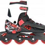 Enfants réglables Roller Roller Skates pour 33–36ou 37–40en noir/rouge ou violet/blanc de la marque Selltex image 1 produit
