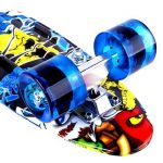 Enkeeo - Planche à Roulettes Skateboard Retro Cruiser (22 pouces, 4 roues translucides PU, table en plastique renforcé, roulement ABEC-7, pour les enfants, jeunes et adultes) de la marque ENKEEO image 4 produit