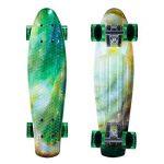 Enkeeo - Skateboard Planche à Roulettes Retro Cruiser 22 Pouces, 4 Roues Translucides PU, Table en Plastique Renforcé, Roulement ABEC-7, Pour Les Enfants, Jeunes et Adultes de la marque ENKEEO image 1 produit