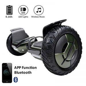 """EVERCROSS Hoverboard Phantom 10"""" Skateboard Éléctrique Batterie Samsung Smart Scooter Contrastes Couleurs Gyropode Auto-équilibrage avec Bluetooth de Boutique GyroGeek de la marque EVERCROSS image 0 produit"""