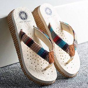 FEI Sandales Pantoufles De Mode D'été Chaussons De Patins Épais Chaussons De Plage Pour 18-40ans Antidérapant (Couleur : #3, taille : EU37/UK4-4.5/CN37) de la marque FEI image 0 produit