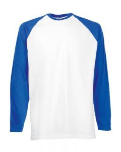 Fotl Long Sleeve Baseball Tee - Top de sport - Homme de la marque Fruit of the Loom image 0 produit