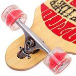 funtomia® Longboard Skateboard skaten Cruiser Longboard complet avec Mach1® High Speed outil de roulement T de la marque FunTomia image 2 produit