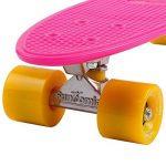 FunTomia Planche à roulettes Mini-Board Skateboard 57cm - avec roulements ABEC-11 - style Retro cruiser en plastique de la marque FunTomia image 2 produit