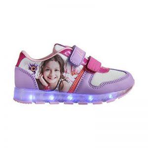 Générique Disney Soy Luna Baskets a LED - Enfant Fille - Violet Lilas 35 de la marque Générique image 0 produit