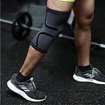 genou manches genou de compression Brace manches pour homme et femme–Sports Support Course à Pied, basket-ball, crossfit, gym, d'haltérophilie, haltérophilie, cyclisme–Améliore la circulation sanguine la guérison, aider l'arthrite et les douleurs arti image 2 produit