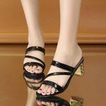 GreatestPAK Mode d'été Sandales Femmes Dames Cheville Talons hauts Party Pantoufles Chaussures de la marque GreatestPAK_Chaussures image 1 produit