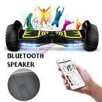 Hoverboard Mega Motion X-strong - Hummer tout terrain 8.5 pouces - E-Skateboard - Moteur 700W - 3 Modes de conduite - App - Haut-parleurs avec Bluetooth - LED - Scooter électrique auto-équilibré avec système de sécurité aux normes CE - Gyropode 4X4 - Hamm image 3 produit
