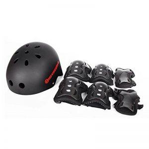 HOVERGLISS Kit de protection : Casque + Genoux + Coudes + Mains pour Vélo Skate Trottinette Hoverboard de la marque HOVERGLISS image 0 produit