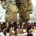 Jamais Fée Combat tactique militaire rigide X Genouillères Coudières Tactical protection Sports Sécurité Coussinets Taille unique kaki de la marque song bei image 4 produit