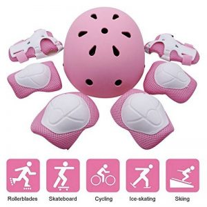 Kid's Protective Gear Set, Yacool Child's Adjustable Helmet, Knee Pads, Elbow Pads and Wrist Pad for Skateboard Roller Skating Cycling Rollerblades de la marque Yacool image 0 produit