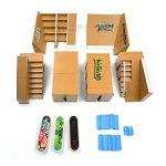 Kidsdreams 8pcs Skate Park Kit Pièces de rampe pour Tech Deck Fingerboard Mini Finger Skateboard Fingerboards Ultimate Parks avec 3PCS Finger Boards de la marque Kidsdream image 1 produit